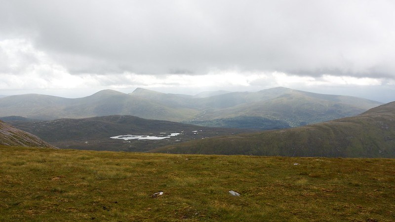 Over the Loch Ossian hills