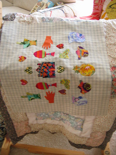 Kaffe Applique dolly quilt