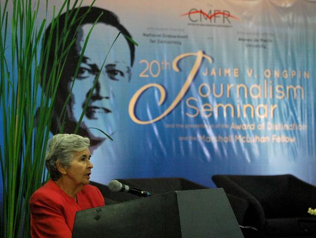 Jaime V. Ongpin Journalism Seminar 2015