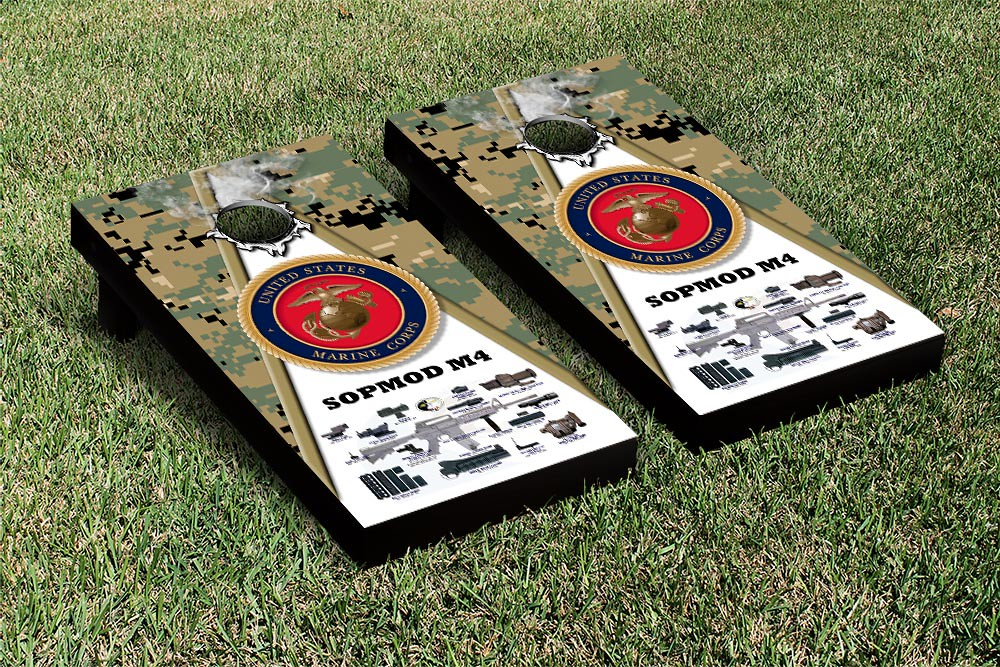 US Marines USMC SOPMOD M4 Woodland Camo