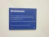 Restroom advisory