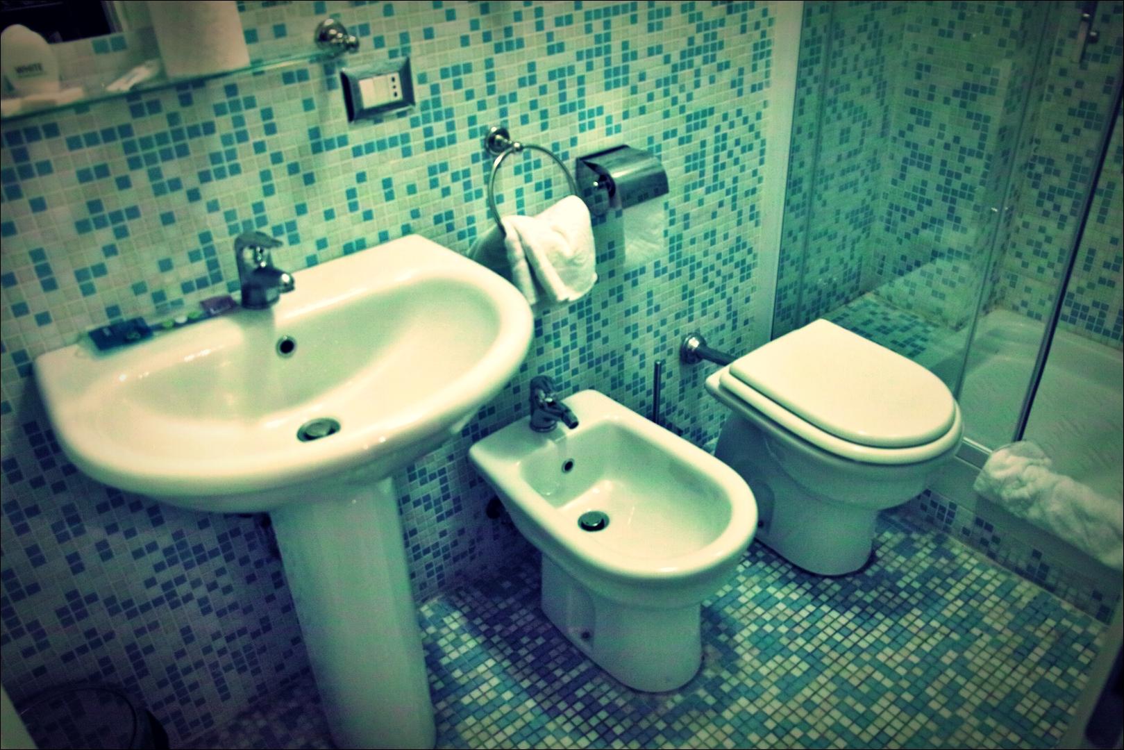 화장실-'로마 바티칸 산 발렌티노 호텔'