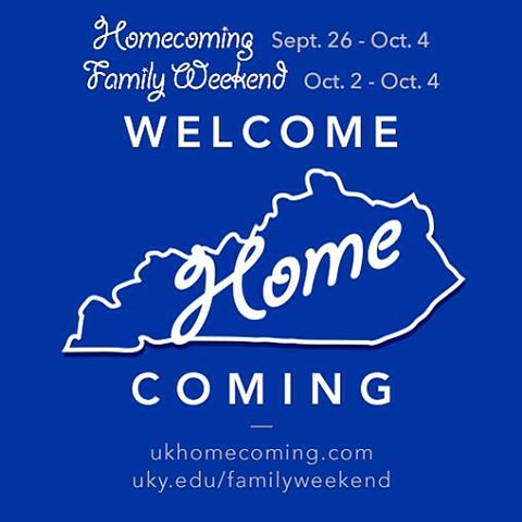Welcome to all our alums on campus for @ukhomecoming & to all the family members of our Wildcats here for Family Weekend! It's great having our extended Big Blue Family together.  #UK100HC #Raceto100 #OnOnUofK