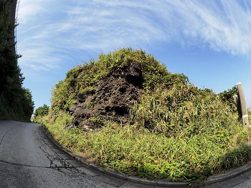 溶岩と坂道