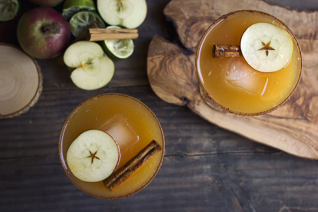 Spiced Apple Cider Margarita - Two Ways