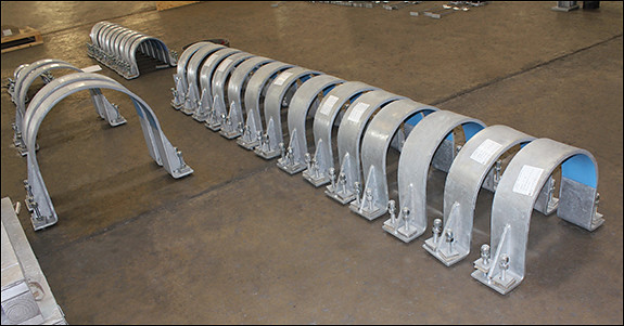 "24"" Hold-down Clamps for a Natural Gas Plant in Colorado"