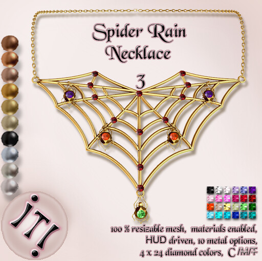 !IT! - Spider Rain Necklace 3 Image