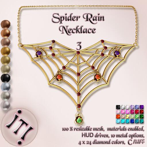 !IT! - Spider Rain Necklace 3 Image