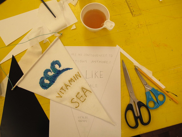 creative saturday, making banners with atilio, dunkers kulturhus, helsingborg