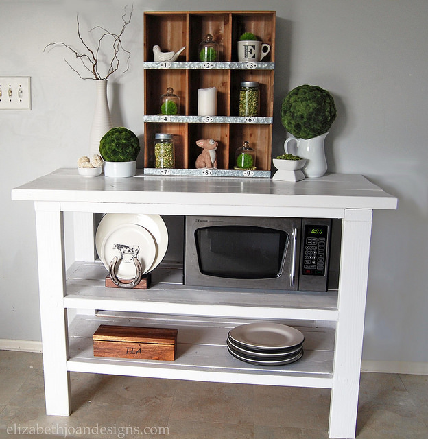 Painted Open Buffet Table