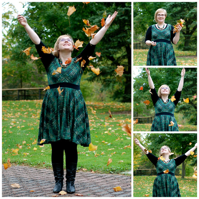 throwing leaves Collage