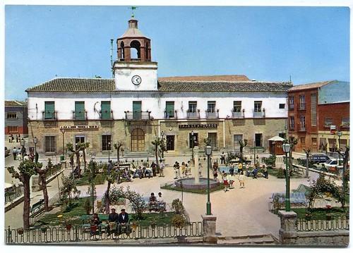 Villatobas (Toledo): Plaza de España= Spain Square= Place de l´Espagne