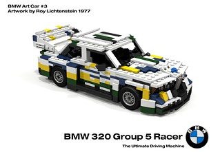 BMW 320 Group 5 Racer - BMW Art Car #3, Roy Lichtenstein - 1977