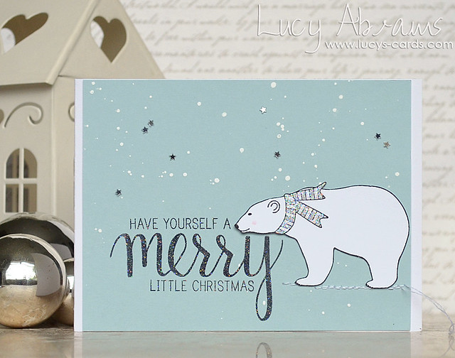 Christmas Polar Bear by Lucy Abrams