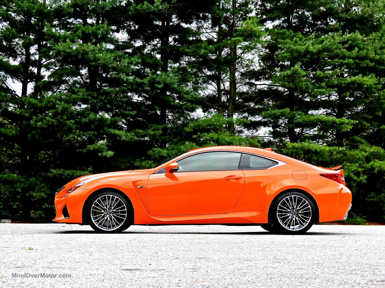 Orange Lexus RC-F Review 17