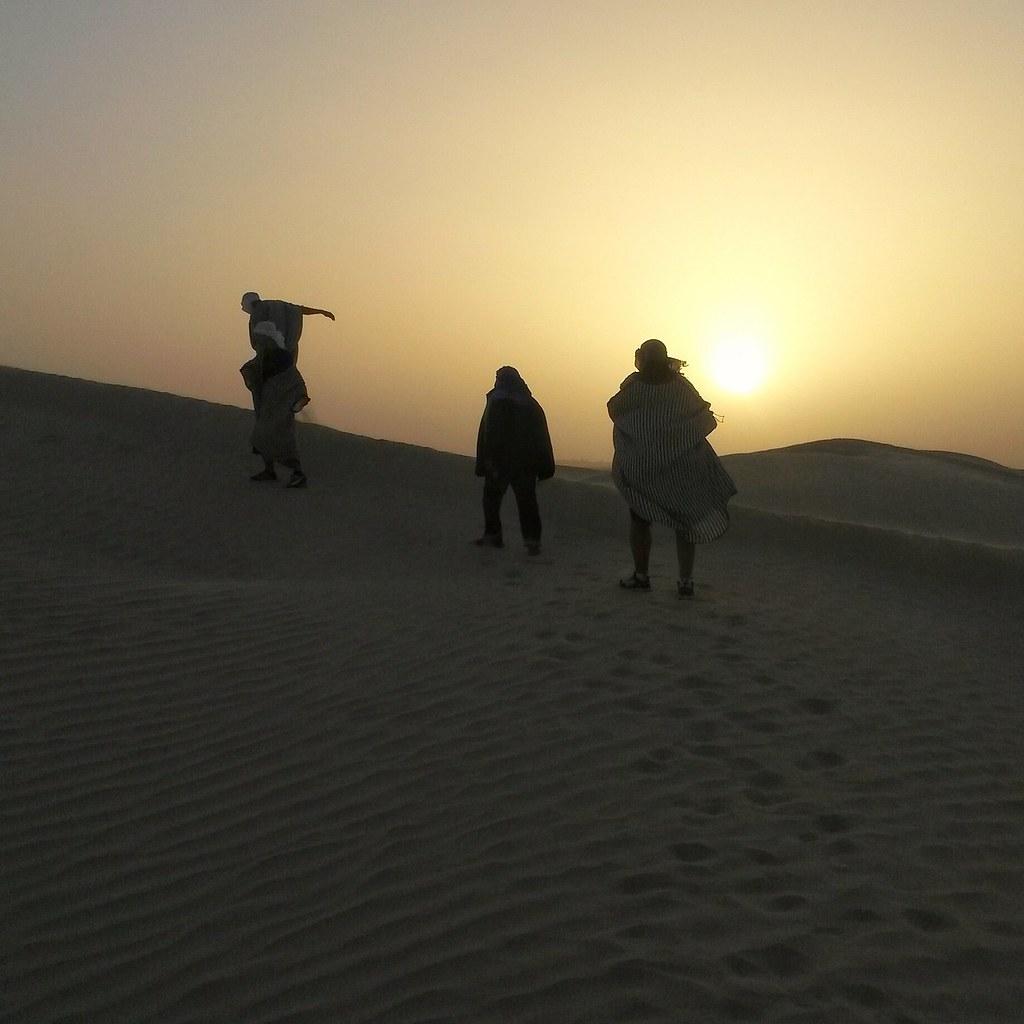 Auringonlasku, Sahara, Tunisia