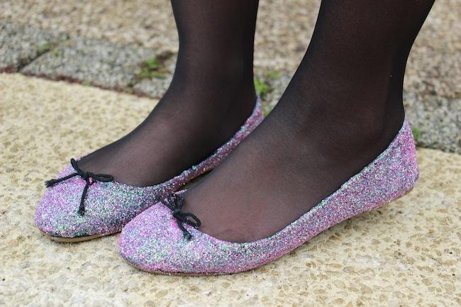 DIY, customiser des ballerines avec des paillettes pour les fêtes !!!