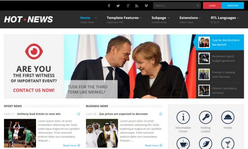 JoomlaMonster JM Hot News v1.00 – Joomla Template