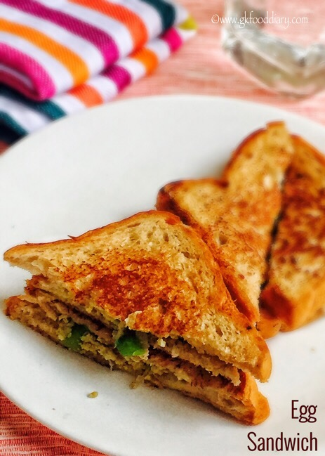 Egg Sandwich Recipe for Toddlers and Kids