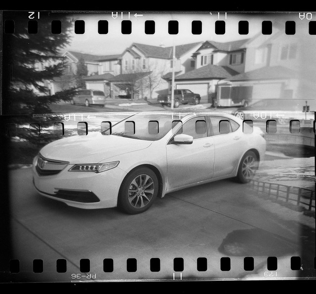 70mm Holga - Boring Car Photo
