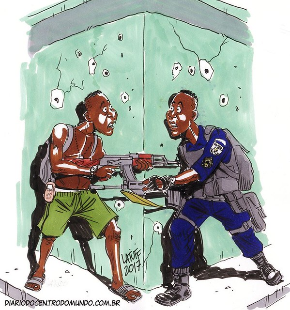 Luta entre irmãos - Créditos: Carlos Latuff/Diário do Centro do Mundo