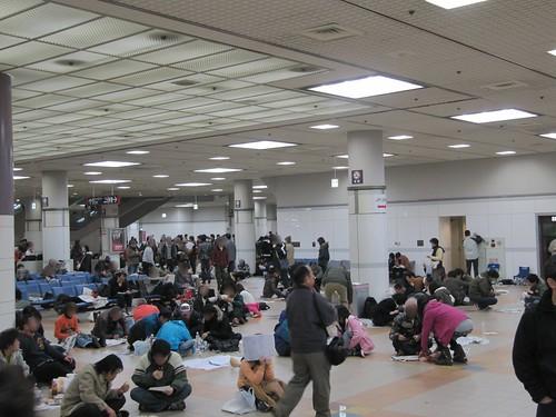 中山競馬場で床に座ってしまう人たち