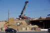View of the Abutment work on the western end of the eastbound overpass.