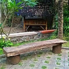 'Dingklik' kayu dengan bentuk yang alami di alam yang asri... begitu serasi berpadanan dan enak dipandang mata...
