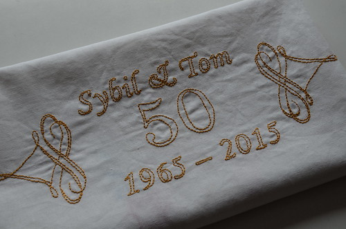 50th anniversary table cloth