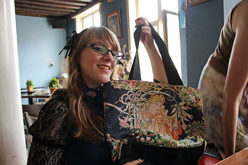 Agnes likes her new Mucha bag