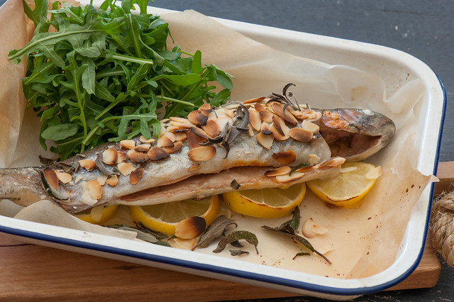 Roast Trout with Almonds-2