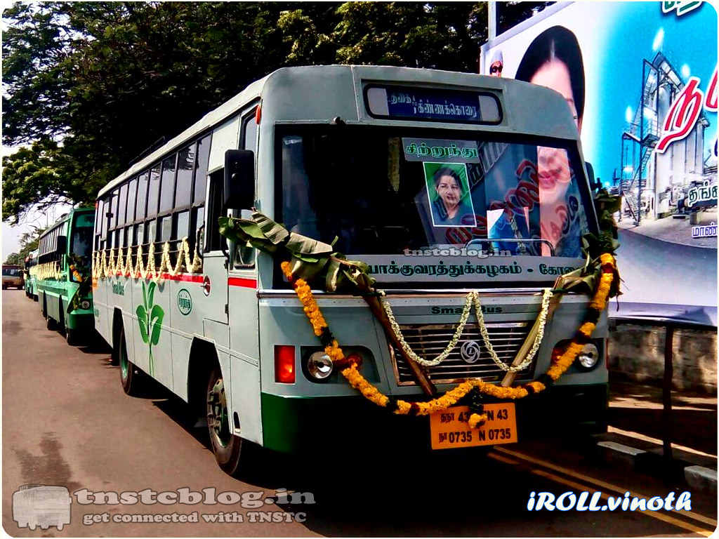 TN-43N-0735 Small Bus of Ooty Region Route Ooty - Kinnakorai