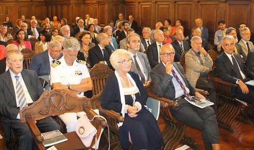 In prima fila Onofrio Resta (nipote di Raffaele) e senatore Gaetano Quagliariello figlio di un ex rettore Bari