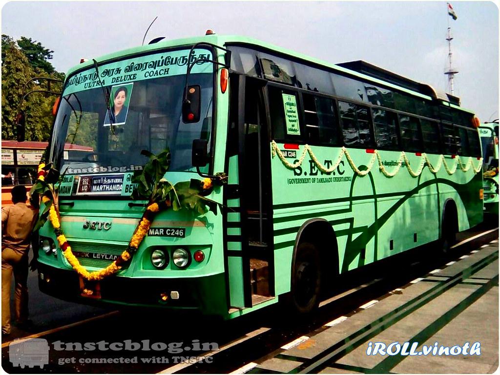 TN-01AN-1087 of Marthandam Depot Route Marthandam -Bengaluru