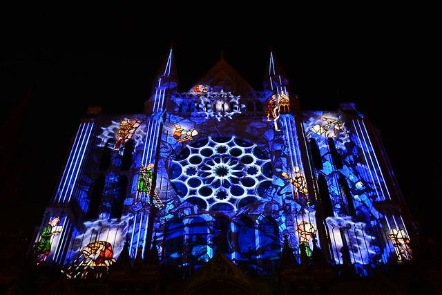 Chartres en Lumières 2015 - Cathédrale, Portail Sud