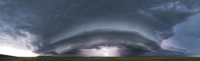 Pine Haven, Wyoming Panoramic Supercell