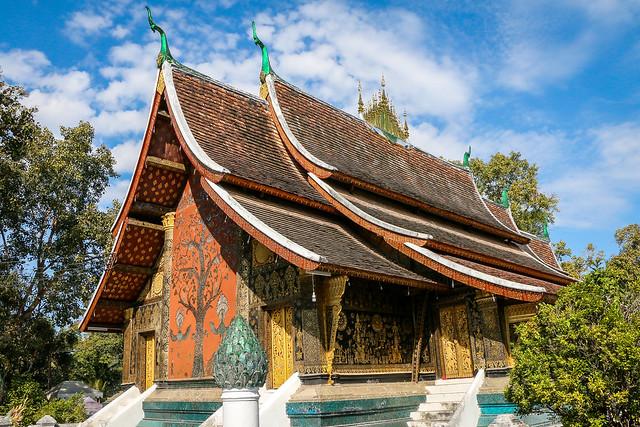 Wat Xieng Thong, Luang Prabang, laos ルアンパバーン、ワット・シェントーン