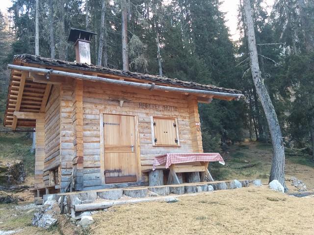 An der Haberer Hütte angekommen