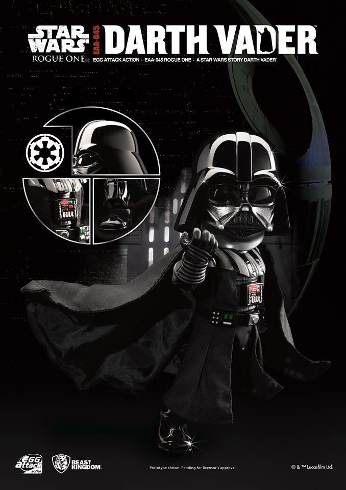 野獸國 Egg Attack Action 系列【黑武士達斯.維德】星際大戰外傳:俠盜一號 Darth Vader EAA-045