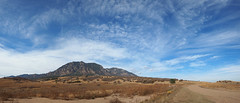 Pano: Cheyenne Mountain and Clouds