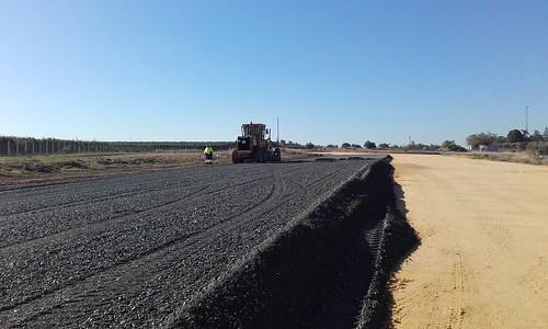 Obras de desdoble de la carretera A392 entre Dos Hermanas y Alcalá de Guadaíra
