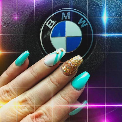 Dear Katharina! Thank spy so much for your amazing work! #refreshed #nails #nail #fashion #style #cute #beauty #beautiful #instagood #pretty #girl #girls #stylish #sparkles #styles #gliter #nailart #art #girly #photooftheday #girlythings #bmwgirl #turquoi