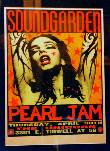 Soundgarden Pearl Jam poster, Nashville Hard Rock Cafe 1995