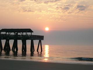 Sunrise at Tybee pier