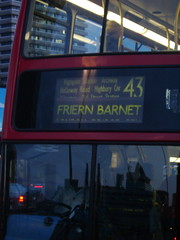 The 43 bus, London