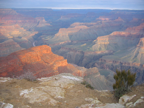 Grand Canyon at Sunset, South Rim, Grand Canyon National Park, AZ