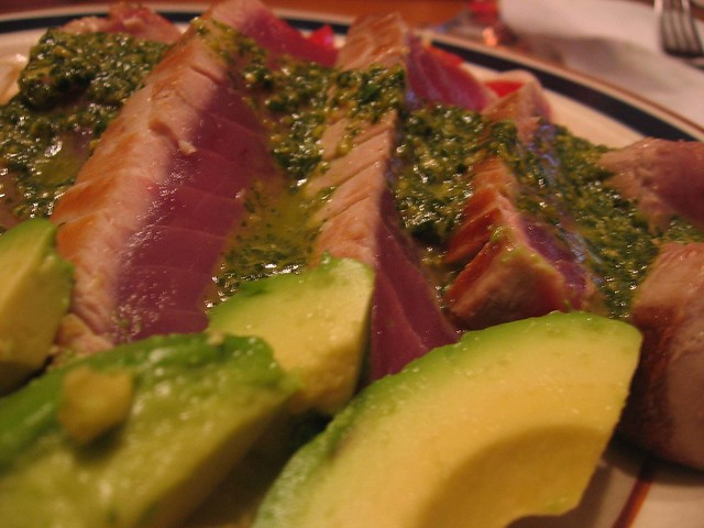 Seared Ahi Tuna with a Cilantro-lime-ginger sauce | Flickr - Photo ...