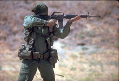 soldier(1.0), weapon(1.0), machine gun(1.0), infantry(1.0), firearm(1.0), gun(1.0), military(1.0),