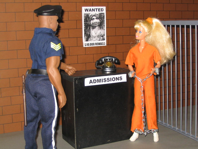barbie prison doll house