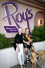anna and chips outside roy's hawaiian fusion restaur…